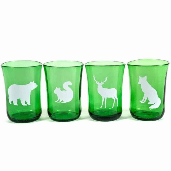Forest Animal Tumblers Set of 4