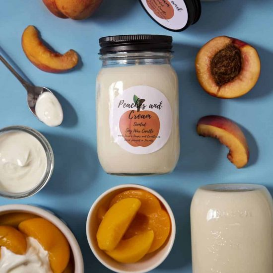 Peaches and Cream Soy Candle - 13 oz