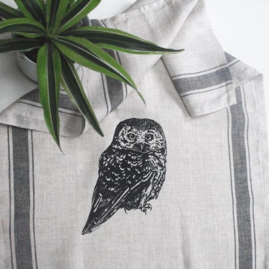 Owl Kitchen Linen Towel