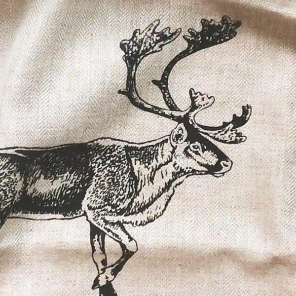 Vintage Caribou Linen Kitchen Towel