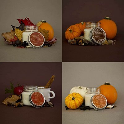 Autumn Collection: Set of 4 candles