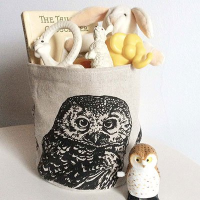 Eco-friendly Small Storage Bin - Owl