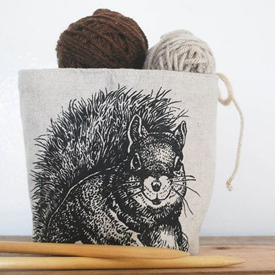 Eco-friendly Small Storage Bin - Squirrel