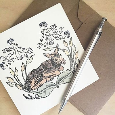 Original Art Blank Note Cards - Woodland