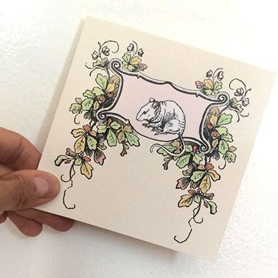 Original Art Blank Note Cards - Woodland Mouse
