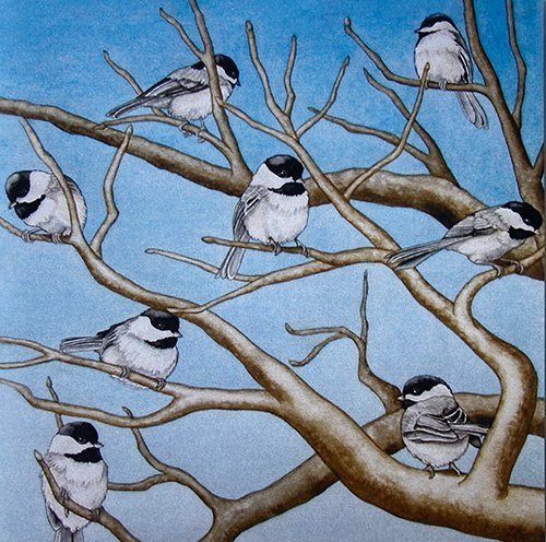Chickadees Note Cards