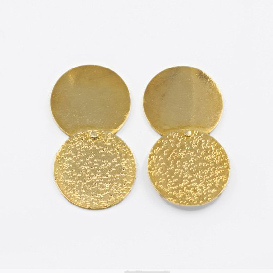 Gold Plated Brass Double Earrings
