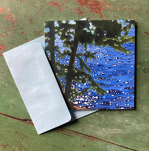 Sparkling Square Note Card