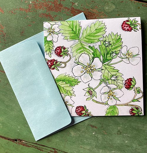 Wild Strawberries Note Cards