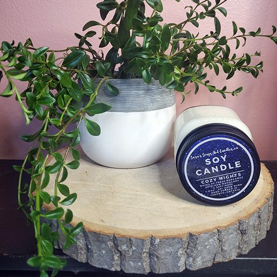 Cozy Flannel Soy Candle - Winter Collection