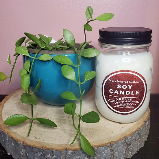 Create (Sugared Cinnamon Donut) Soy Candle - Winter Collection